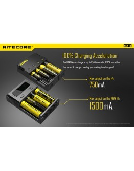 Nitecore Intellicharger New i4 Li-ion 18650 Pil Şarj Aleti
